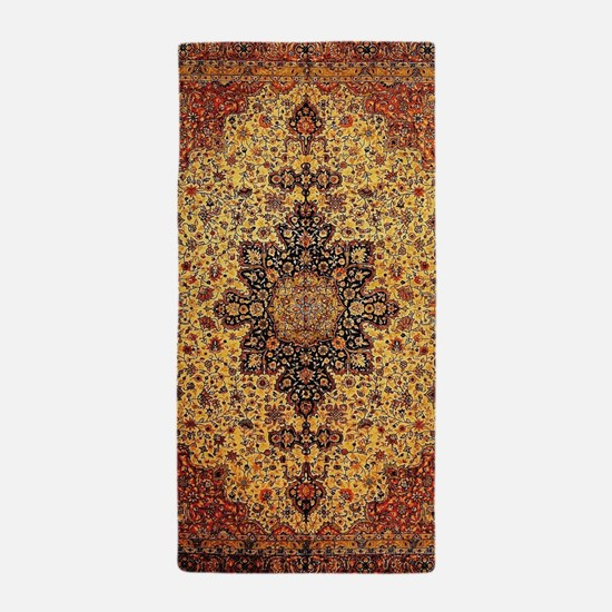 Persian Carpet Oriental Rug Pattern Beach Towel