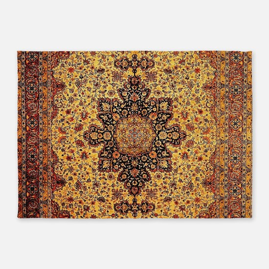 Persian Carpet Oriental Rug Pattern 5'x7'Area Rug