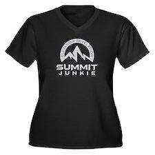 Summit Junkie Plus Size V-Neck Dark T-Shirt