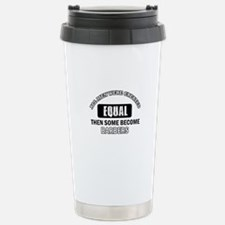 Cool Barbers designs Stainless Steel Travel Mug