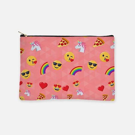 Emoji Pink Pattern Makeup Bag