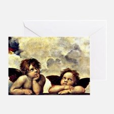 Raphael - Putti (angels) Detail from Greeting Card
