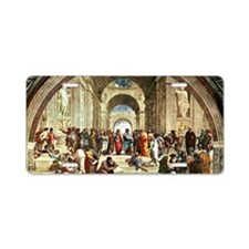 Raphael - School of Athens  Aluminum License Plate
