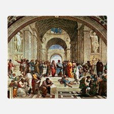 Raphael - School of Athens showing D Throw Blanket