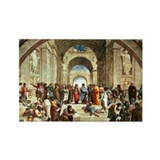 Raphael - School of Athens showin Rectangle Magnet