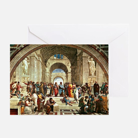 Raphael - School of Athens showing D Greeting Card