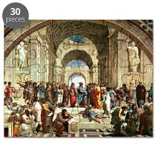 Raphael - School of Athens showing Diogenes Puzzle