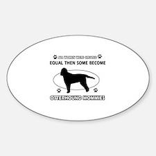 otterhound mommy designs Sticker (Oval)