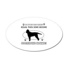 otterhound mommy designs Wall Decal