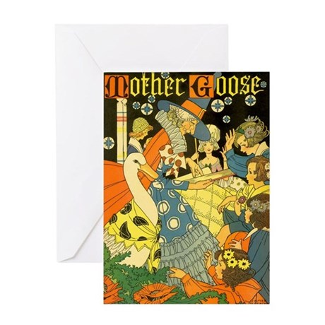Vintage Mother Goose Greeting Card