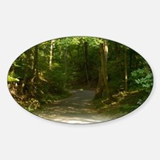 Peaceful Pathway Sticker (Oval)