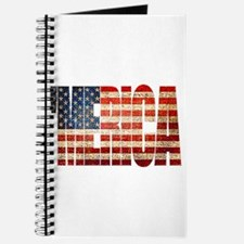 Vintage Grunge MERICA U.S. Flag Journal