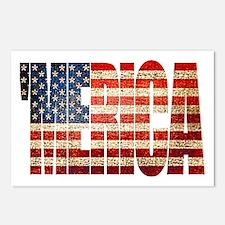 Vintage Grunge MERICA U.S. Flag Postcards (Package