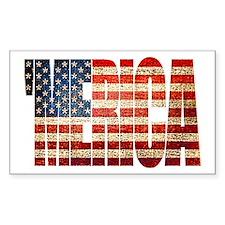 Vintage Grunge MERICA U.S. Flag Decal