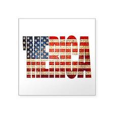 Vintage Grunge MERICA U.S. Flag Sticker