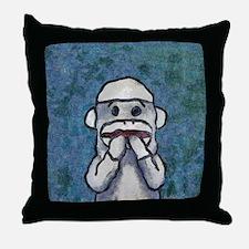 Speak No Evil Sock Monkey Throw Pillow