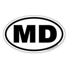 Maryland MD Euro Oval Decal