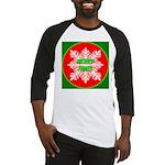 Merry Xmas Symetrical Snowfla Baseball Jersey
