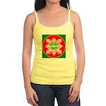 Merry Xmas Symetrical Snowfla Jr. Spaghetti Tank