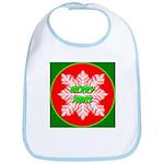Merry Xmas Symetrical Snowfla Bib