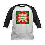 Merry Xmas Symetrical Snowfla Kids Baseball Jersey