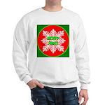 Merry Xmas Symetrical Snowfla Sweatshirt