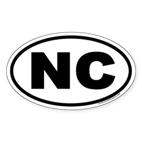 North Carolina NC Euro Oval Sticker