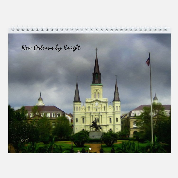 New Orleans by Knight I Wall Calendar
