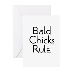 Bald Chicks Rule Greeting Cards (Pk of 10)