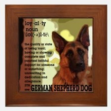 German Shepherd Framed Tile