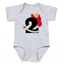 Fireman 2nd Birthday Baby Bodysuit