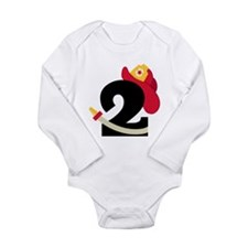 Fireman 2nd Birthday Long Sleeve Infant Bodysuit