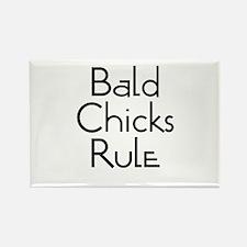 Bald Chicks Rule Rectangle Magnet