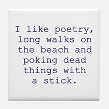Poetry Tile Coaster