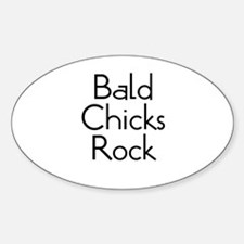 Bald Chicks Rock Oval Decal