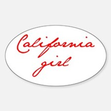 california-girl-jan-red Decal