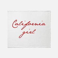 california-girl-jan-red Throw Blanket