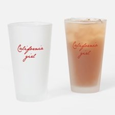 california-girl-jan-red Drinking Glass