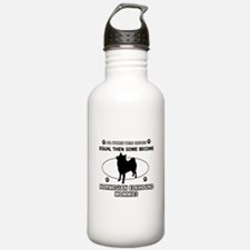 norwegian elkhound mommy designs Water Bottle