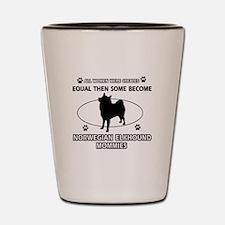 norwegian elkhound mommy designs Shot Glass