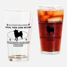 norwegian elkhound mommy designs Drinking Glass
