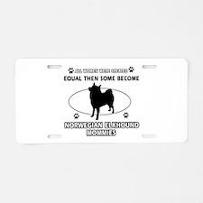 norwegian elkhound mommy designs Aluminum License