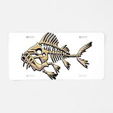 Skello Fish Aluminum License Plate