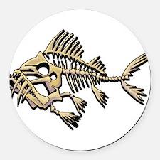 Skello Fish Round Car Magnet