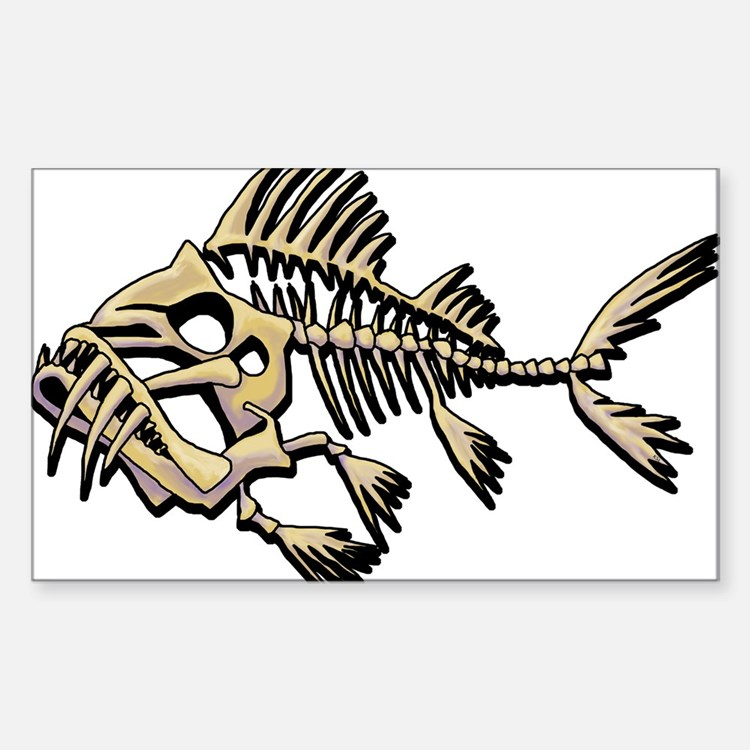 Fish skeleton bumper stickers car stickers decals more for Fish skeleton decal