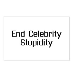End Celebrity Stupidity Postcards (Package of 8)