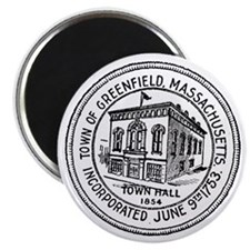 Seal of Town of Greenfield, Mass Magnet
