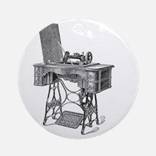 New Home Treadle Sewing Machine Round Ornament