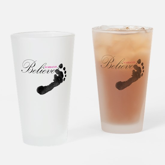 Believe in Miracles Drinking Glass