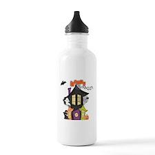 Happy Halloween haunted house Water Bottle
